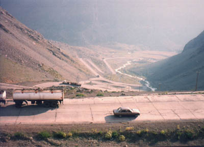 Switchbacks on highway