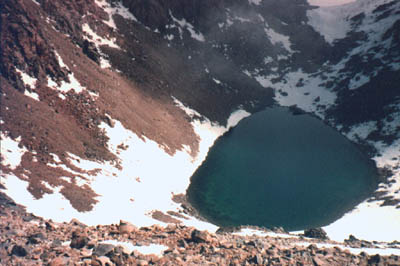 Licancabur crater lake